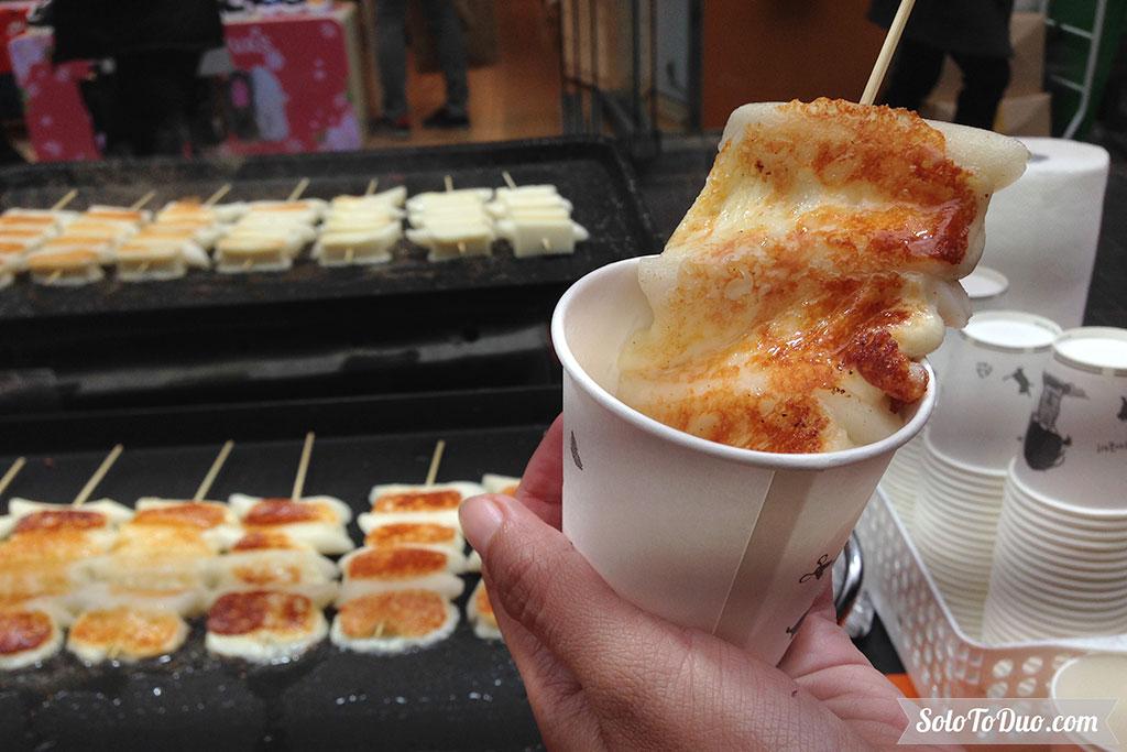 Makanan Wajib Coba di Seoul - Grilled Mozzarella Cheese